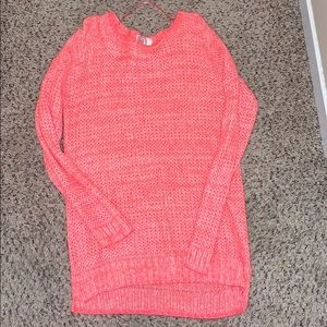 Hot pink juniors tunic sweater size XL
